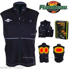 Flambeau Heated Vest Black Li-Ion Battery Hunting Medium Jacket 12V USB F100-MM