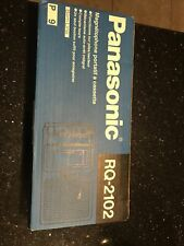 Nos Panasonic. Rq. 21020. Slim Line Cassette Recorder