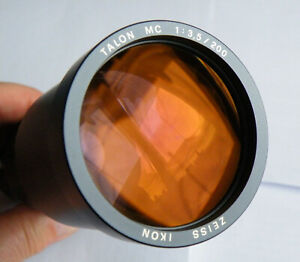 Teleobjektiv Talon MC 3,5/200 mit Kondensor, Objektivstütze Zeiss/Zett/Leica