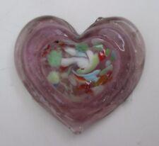 v Purple HEART FIGURINE small glass love