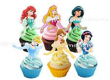 Disney princess cupcake toppers (NOT EDIBLE)