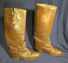 Antique Vintage Leather Lace Up Riding Boots