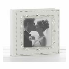 Deluxe Leather Effect White Wedding Day Photo Album 80 Photos
