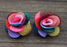2pcs cute Handmade DIY flower chunk snap button fit nosa bracelet j1183