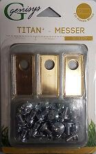 30 Titan Messer Klingen &Schrauben Honda® Miimo geprüfte Qualität Preisgar.