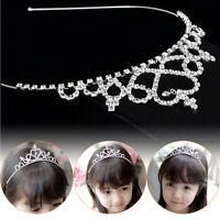 Girl Princess Hairband Child Party Bridal Crown Headband Crystal Diamond Tiara S