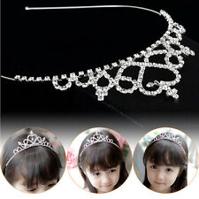 Girl Princess Hairband Child Party Bridal Crown Headband Crystal Diamond Tiara5t