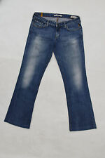 "meltin 'pot jeans ""nicole"" ladies faded denim bootcut stretch w30 l30 uk12"