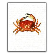 GRANCHIO SEA LIFE Placca Di Metallo Stampa Parete Segno Ristorante Cucina Art Decor