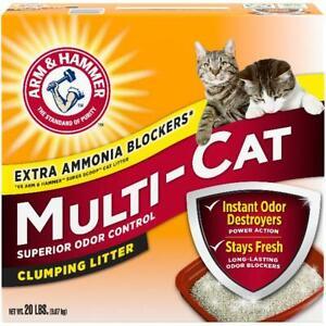 Arm Hammer Clumping Cat Litter Multi Cat 20Lb