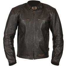 """WEISE 'DOCKLANDS' MOTORCYCLE JACKET CLASSIC STYLE LEATHER JACKET SIZE UK 42"""""""