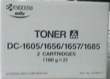 KYOCERA MITA 37046010 DC-1605-1656-1657-1685 TONER NERO CONF 2PZ ORIGINALE