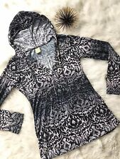The Balance Collection by Marika Top Yoga L Large Hooded Print Pattern Long T6