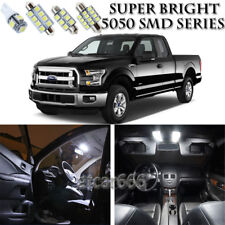 9pcs Xenon White LED Interior Lights Bulb Package Kit For Ford F150 2013-2016