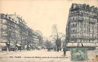 CPA 75 PARIS XIVe AVENUE DU MAINE PRISE DE LA RUE DE L'ARRIVEE