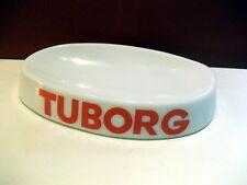 Rare shaped white glass Tuborg ashtray - Magnier Frères France