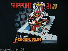 Support 81 Hells Angels Long Island New York 2015 Poker Run T Shirt XL