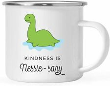 Campfire Coffee Mug - Kindness is Nessie sary Mug - Loch Ness Monster Mug