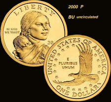 2000 P Sacagawea Dollar US Mint Coin Brilliant uncirculated condition
