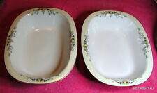 "{SET OF 2} PT Tirschenreuth (Golden West) 9 3/8"" OVAL SERVING BOWLS  tiny nips"