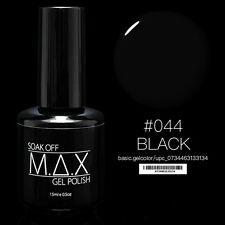 MAX 15ml Soak Off Gel Polonais Nail Art UV LED Couleur # 044 - Noir