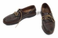 Men's Allen Edmunds Pueblo LOAFER Boat Shoes Brown Leather US size 10.5D