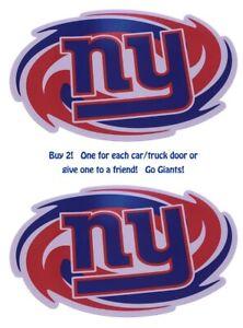"""2 Pack - NFL New York Giants Car Magnet - 12"""" x 8"""""""