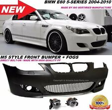 BMW E60 M5 STYLE FRONT BUMPER W/ FOG LIGHTS 2004-2010 WITHOUT PDC HOLES
