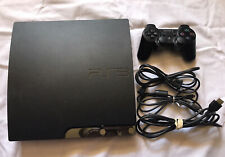 SONY ps3 PlayStation 3 Slim 120 GB Charcoal Black Console &controller CECH-2001A