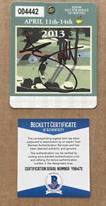 Adam Scott Signed  2013 Masters Golf Badge  Signed Beckett Certified