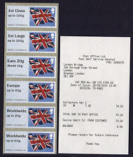 NEW! FLAGS undated NCR POST & GO 6NVI COLLECTORS STRIP WITH RECEIPT