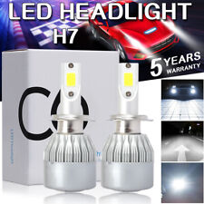 2pcs H7 LED Headlight Bulbs Conversion Kit 110W 20000LM 6000K Hi/Lo Beam Lamps