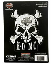 HARLEY DAVIDSON SKULL AND CROSSBONES DECAL MADE IN THE USA