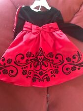 Nwt Rare Editions Red Velvet Christmas Dress 18m