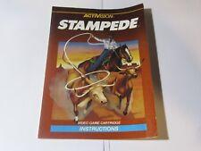 Intellivision Instruction Manual Booklet - STAMPEDE