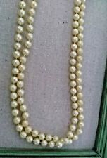 """ART DECO Faux Pearls Flapper Beads Cluster Long Pearl Necklace Great Gatsby 59"""""""