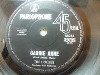 """The Hollies – Carrie Anne 1967 Australia 7"""" Parlophone A 8254"""