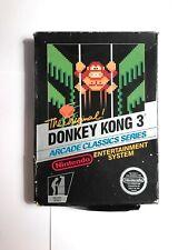 NES Donkey Kong 3 5-Screw Hangtab Non Rev-A CIB Original RARE (Nintendo, 1986)
