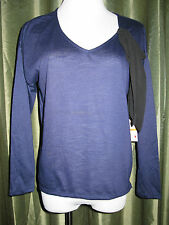 Jessica Simpson Hester Patriot Blue Jersey Cut-Out Pullover Top Shirt S NWT $44