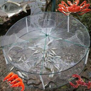 Crab Shrimp Net Trap Cast Dip Cage Fishing Bait Minnow Crawfish Mesh Fish