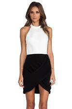 C/MEO Slow Shadow Ivory & Black Dress, Sz 4/S