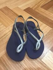 Havaianas Brazil Women Ladies Slim design Flip Flops Sandal Thongs in silver