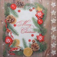 4 x SINGLE PAPER NAPKINS- CHRISTMAS , STARS, LEMON - DECOUPAGE AND CRAFT 113