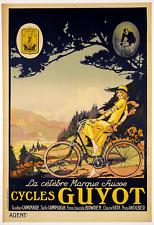 Cycles Guyot- Original Vintage Bicycle Poster - Cycling