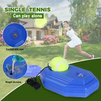 Singles Tennis Trainer Training Practice Ball Back Base Trainer Tools + Tennis