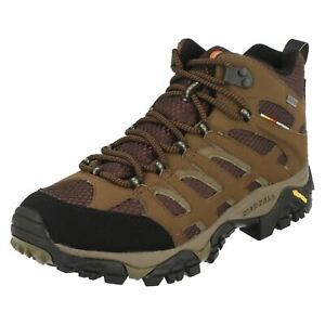 MENS MERRELL MOAB MID GORE TEX J87701 LACE UP HIKING TREKKING ANKLE BOOTS SIZE