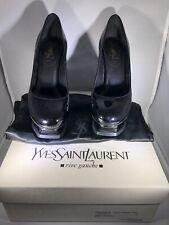 YSL Yves Saint Laurent Tribute 105 Pump Soft Nero Size 37 Ex Condition MSRP $840