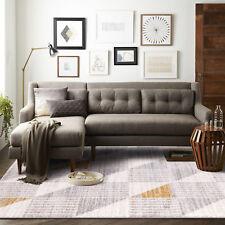 Floor Rug Beige Grey Yellow Diamond Trellis Geometric Modern Carpet 160*230cm