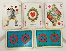 Antiche 54 carte da gioco per l'estero ADRIATICA VENEZIA MASENGHINI BERGAMO rare