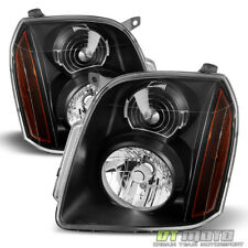 Black 2007-2014 GMC Yukon XL 1500 2500 Denali Headlights Headlamps Left+Right